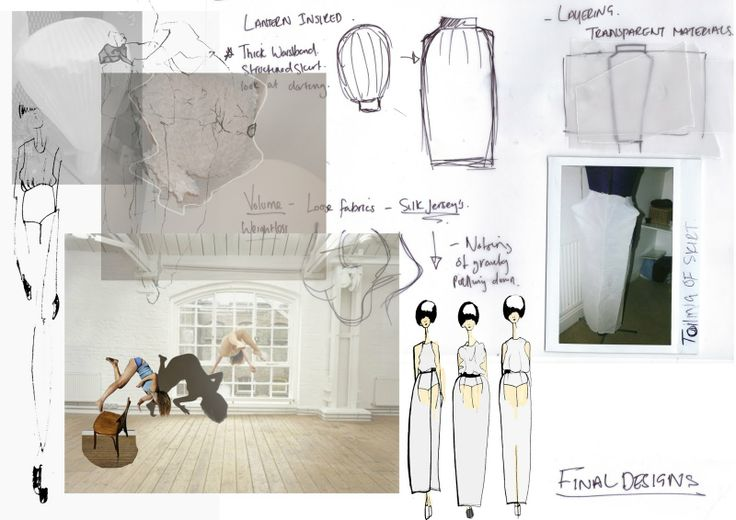 Fashion Sketchbook - fashion design exploring transparency - research, fashion sketches & structure development; fashion portfolio // Emilie Hale