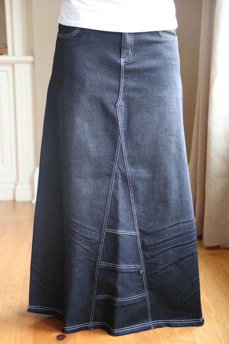 17 Best ideas about Long Jean Skirts on Pinterest   Blue jean ...