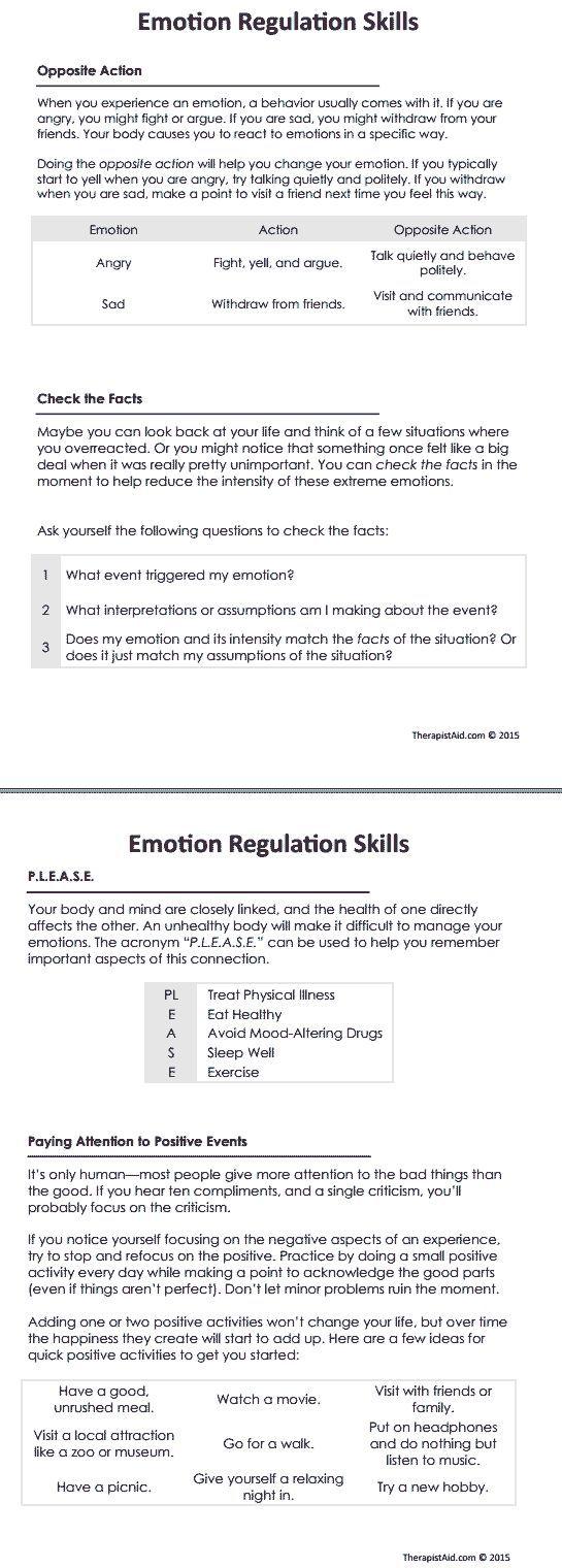 DBT Emotion Regulation Skills Preview: