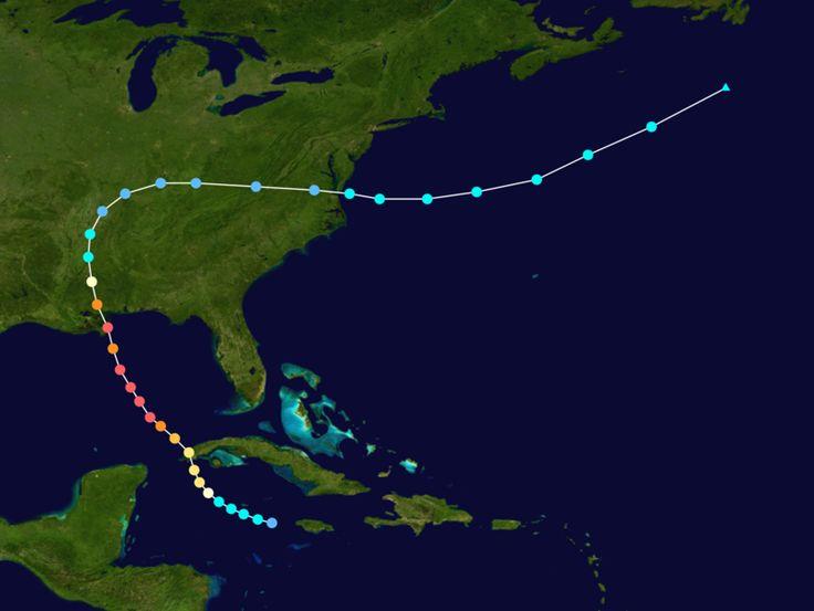 hurricane camille | Hurricane Camille's path