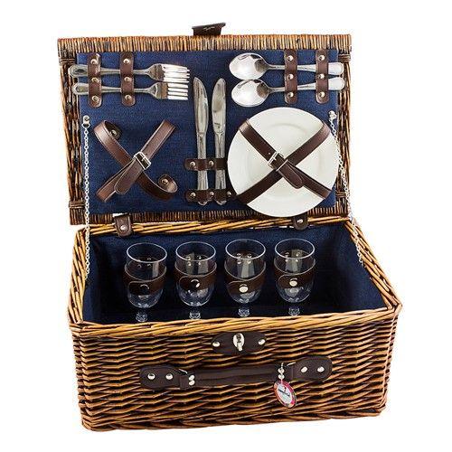 4 Person Ambrosia Ombre Picnic Basket Set, AU$50.00 plus shipping from Home.com.au #picnic #picnicset #picnicbasket #alfresco