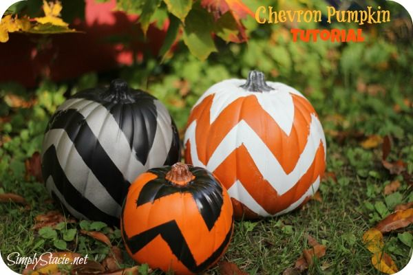 Chevron Pumpkin Tutorial - A fun fall craft that is simple to make with only a few supplies!