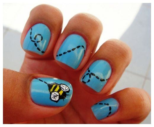 Best 25 bumble bee nails ideas on pinterest yellow nail pencil easy fingernail designs cool nail designs easy to do at home prinsesfo Choice Image