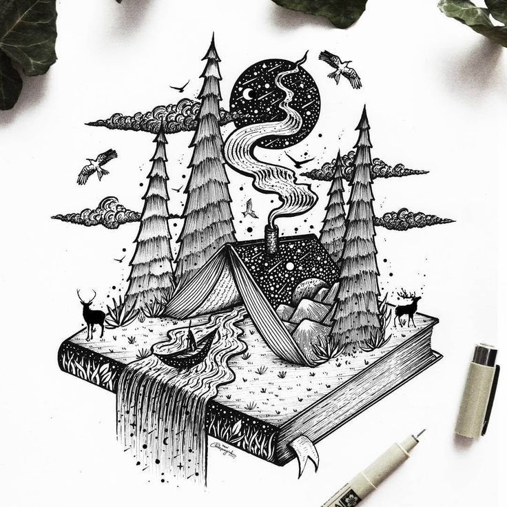 Fantasy and Surrealism in Ink Illustrations – #dra…
