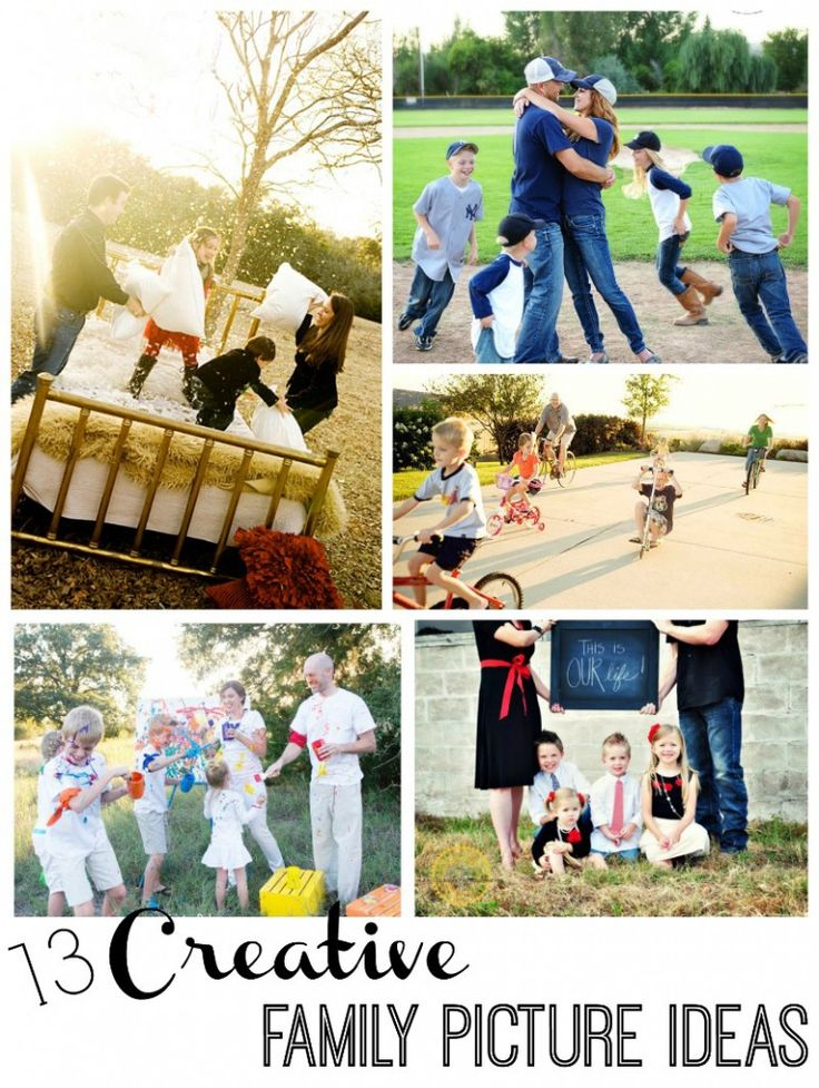 Love these ideas! Here are 13 creative ways to take a family photo from Capturing Joy with KristenDukePhotography.com: