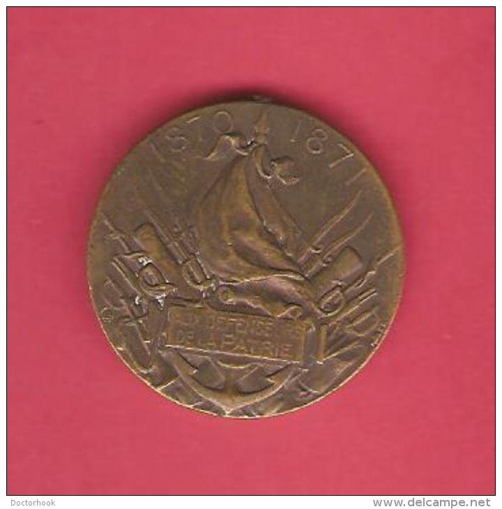 """FRANCE   1870-1 Medaille """"La Patrie Defenseur""""  RARE!!!"""