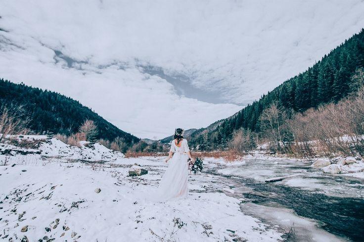Ukrainian wedding, mountains, winter wedding, snow
