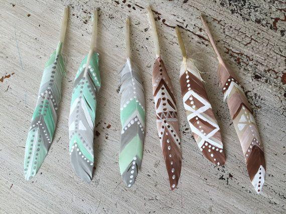 Peint les plumes pour dreamcatchers plumes par ShopWildCotton