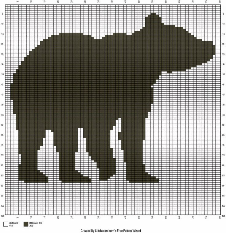 Free Bear Silhouette Crochet Chart.  Observe this graph to make an amazing searching/o…