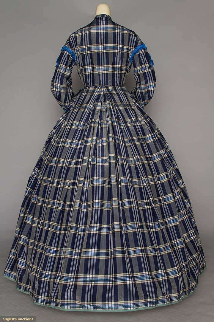 Day Dress (image 3) | early 1860s | silk taffeta | Augusta Auctions | April 20, 2016/Lot 185