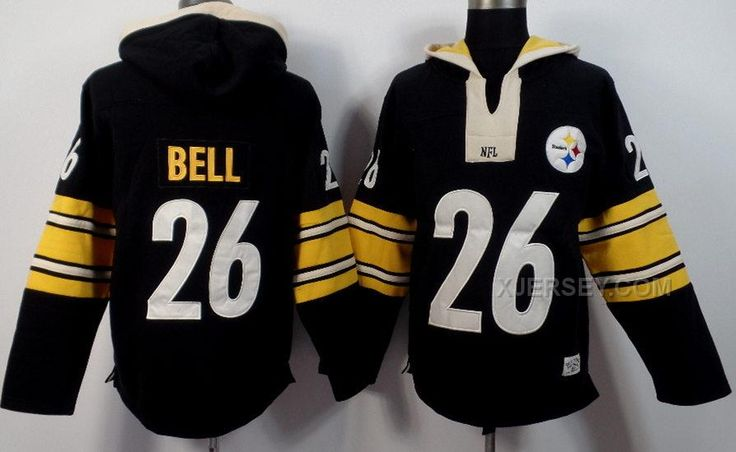 http://www.xjersey.com/pittsburgh-steelers-98518.html Only$53.00 #NIKE STEELERS 26 LE'VEON BELL BLACK ALL STITCHED HOODED SWEATSHIRT Free Shipping!