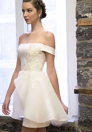 Adaline dress (Silk Satin and Silk organza) - Wedding dress designer-