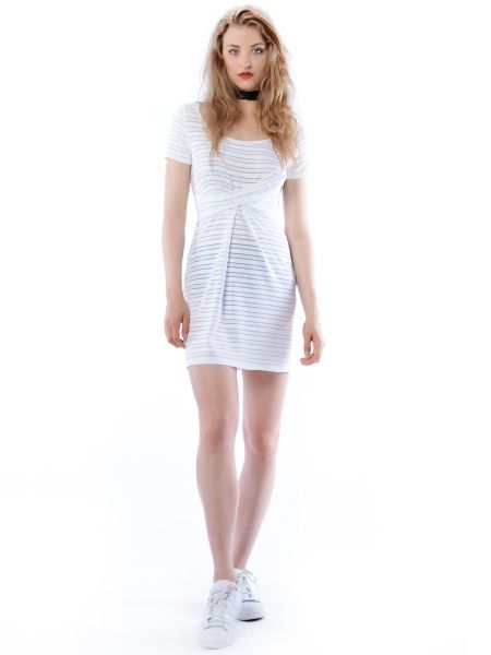 Cristina Mini Hypnotic White Summer - biała sukienka