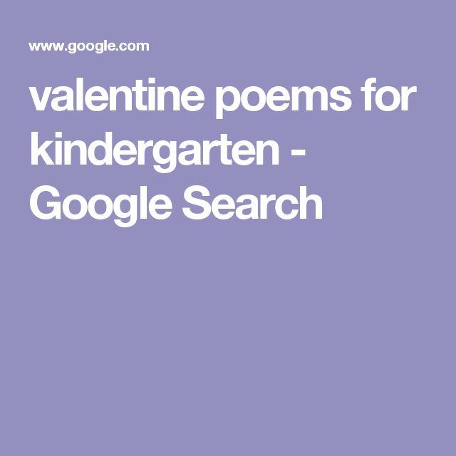 valentine poems for kindergarten - Google Search