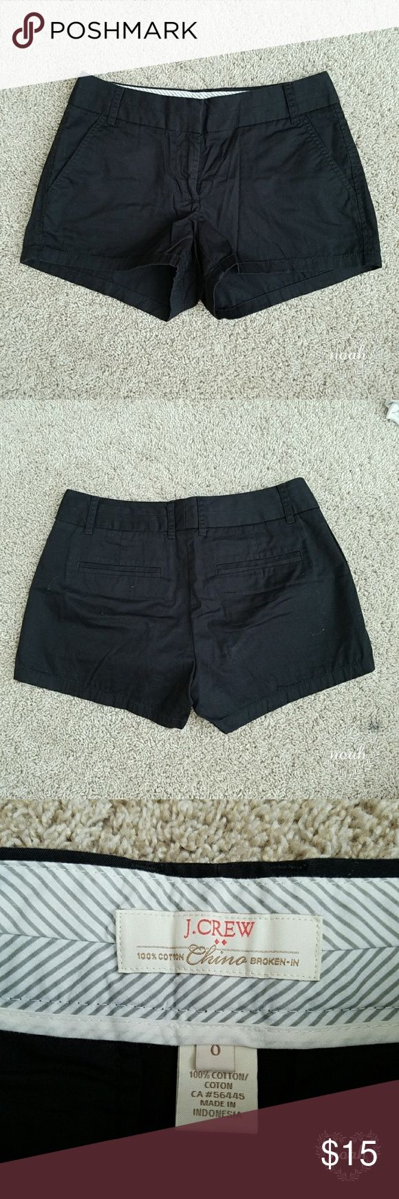 J. Crew black chinos Solid black chino shorts from J. Crew. 2 inch inseam, no damage J. Crew Shorts