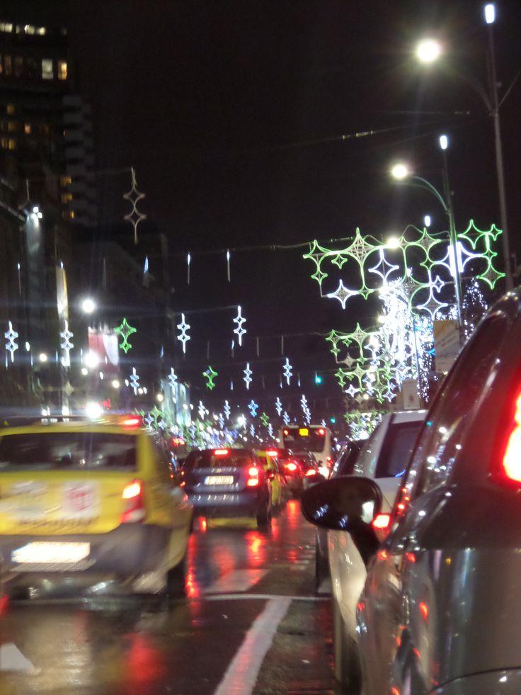 #City #Lights #Bucharest #Christmas is coming #December #Bulevardul Magheru