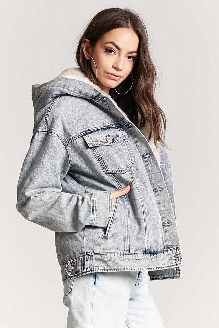 Faux Fur Denim Jacket - Women - 2000225134 - Forever 21 Canada English
