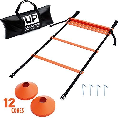 Soccer Ladders Speed Ladder Exercise Ladder Training Agility Equipment And Anchors Free Carrying Bag Agility Soccer Kits Anchor Free Soccer Equipment