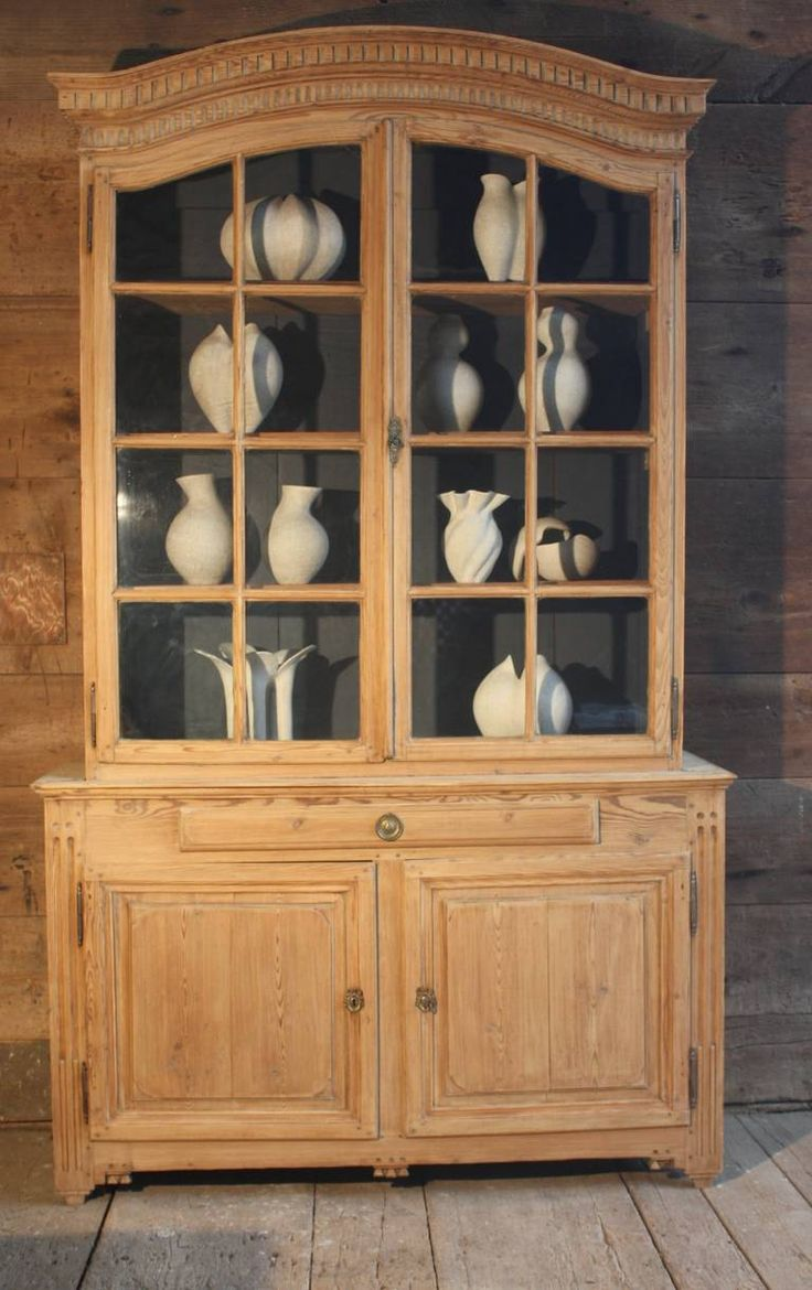 There is a dressing table mirror and lockers and drawersgalore - Rare Louis Xvi Period Provincial Buffet A Deux Corps In Pine