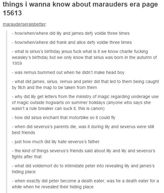 the marauders - things i wanna know about marauders era part 1