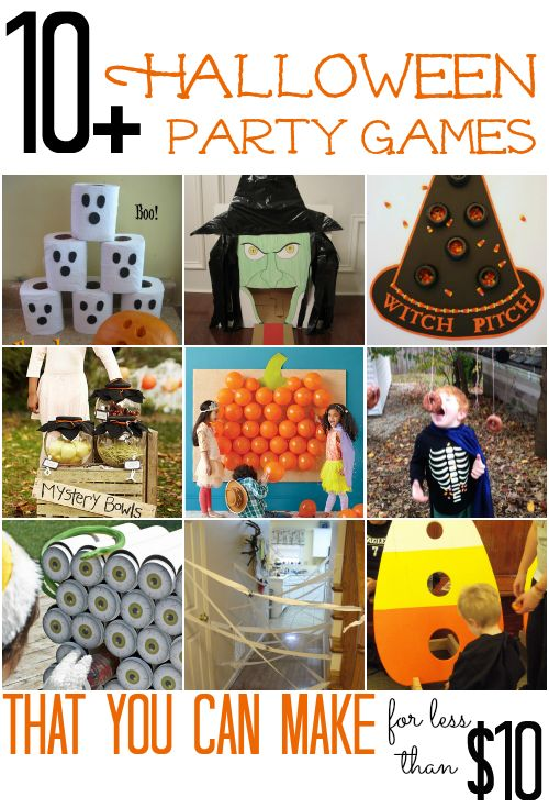 Kids and adults alike love a good Halloween party.  Here are 10  fun Halloween Party Games that you can make for less than $10Fall Festivals, Cheap Fall Crafts For Kids, Halloween Party Games, Adult Alike, Diy Halloween Decorations Kids, Halloween Kids Games, Halloween Games, Halloween Parties Games, Parties Ideas