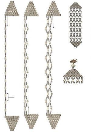 brick stitch and netting bracelet tute.  #Seed #Bead #Tutorials by hm2905