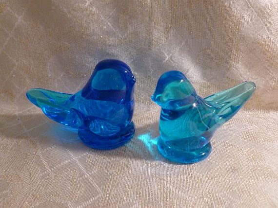Blue Birds Of Happiness Handmade By Leo Ward 1995 And Ron Ray