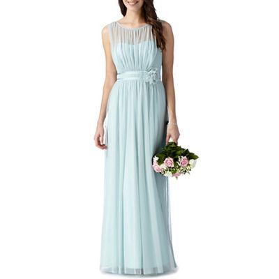 Debut Light green mesh corsage maxi dress- at Debenhams.com