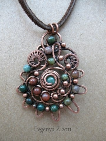 wire pendant - several gorgeous pieces on this site