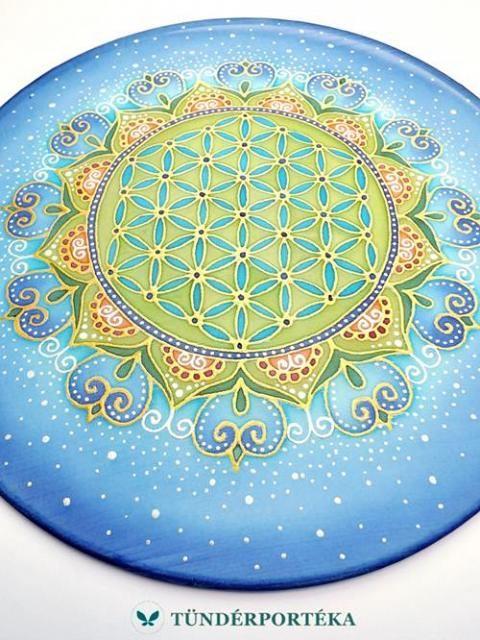 Csillagok között selyem mandala - 25 cm