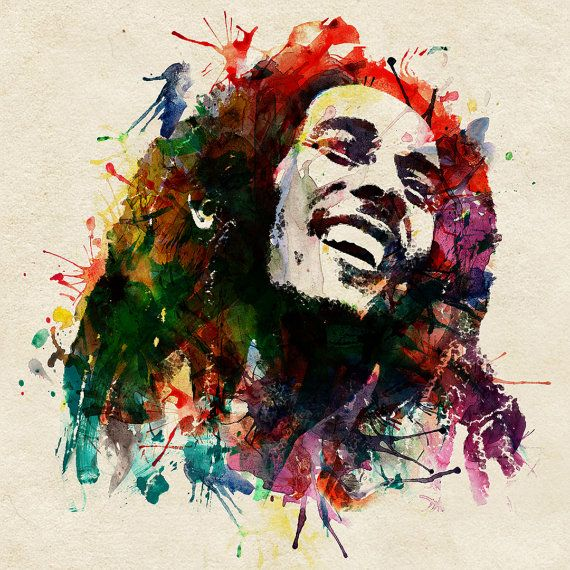 Hey, I found this really awesome Etsy listing at https://www.etsy.com/listing/184828860/bob-marley-watercolor-painting-for