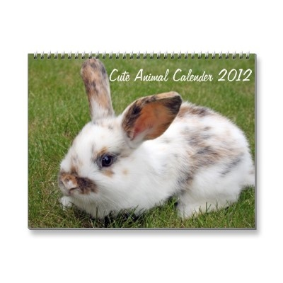 cute 2012 calender sold on zazzle: Cute Animal