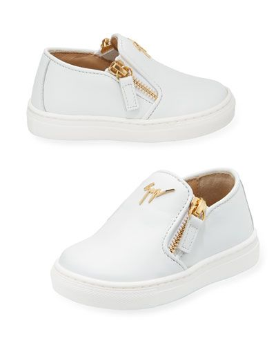 9b1ce307b3567 Giuseppe Zanotti Girls' London Laceless Leather Low-Top Sneaker, Toddler/Youth  Sizes 9T-2Y