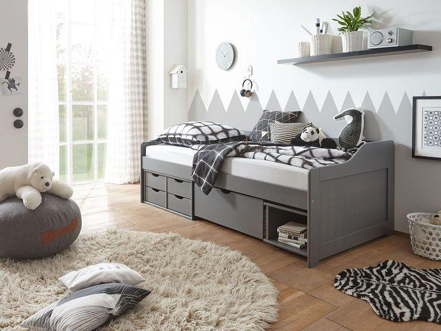 Lovely Das Bett Pinea bietet viel praktischen Stauraum