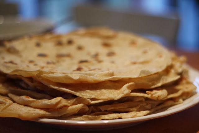 U nás na kopečku: Recepty z kopečku Domácí tortilly