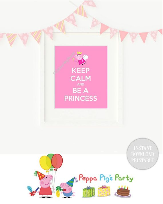 KEEP CALM PEPPA Pig Princess Muddy Puddles by ColourMyRoom on Etsy