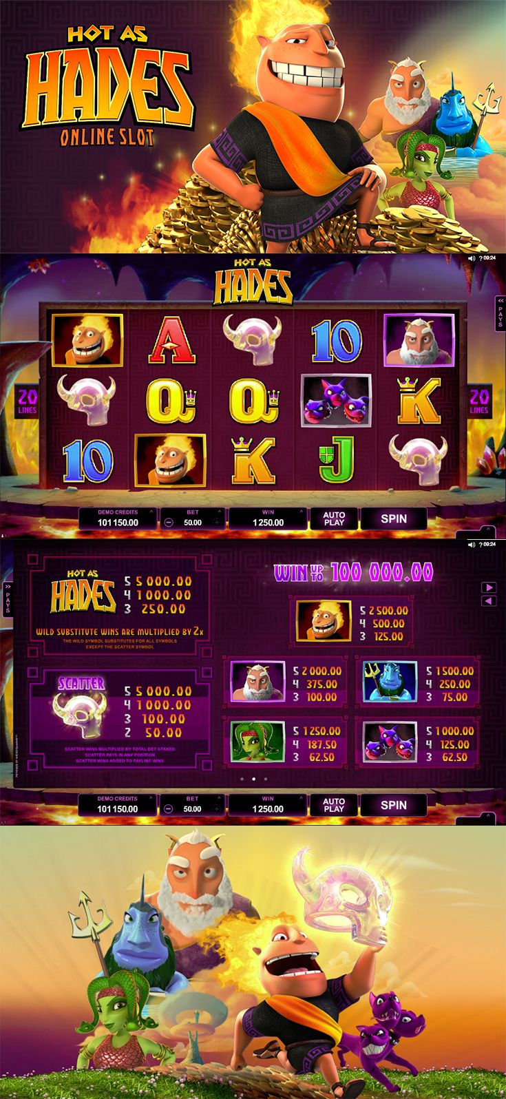 #FreeSlot | Start the weekend with a scorching free slot. Play Hot as Hades at The SpinRoom!