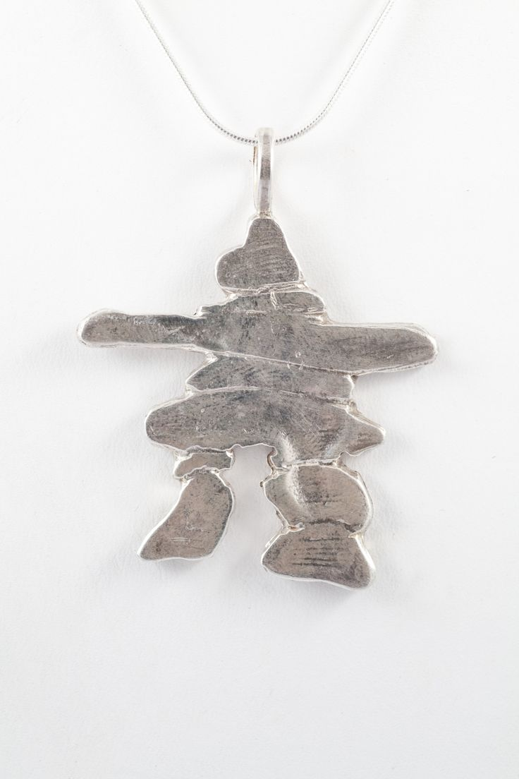Large Inukshuk pendant by Adrienne Deeks in Sterling Silver available in #Whistler and online!