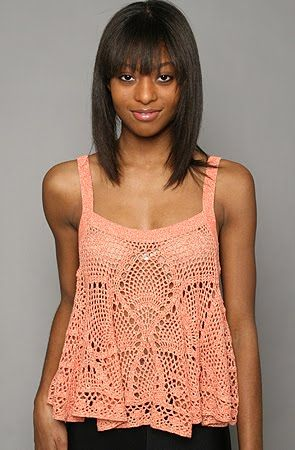 Crochet tank top overshirt,  CARAMELO ARDIENTE es... LA PRINCESA DEL CROCHET: top en ganchillo