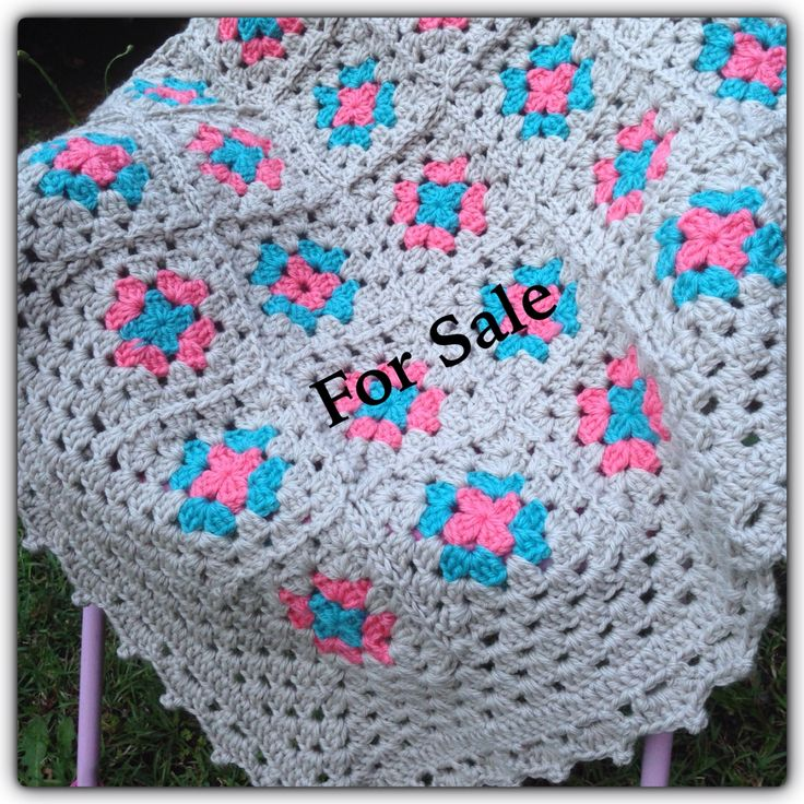 """Specification: Type:      Baby blanket/Afghan Size:       34"""" by 27""""  Material: 100%wool  Colors:    Pink, Blue and     Stone/Gray  Wash:      Handwash, air dry flat Weight:    Approx. 600gm-700gm Price:      $49.50 AUD   Made with love in a dust free and smoke free environment. If anyone interested please direct message me or email me at etil2d@gmail.com (shipping not included)"""