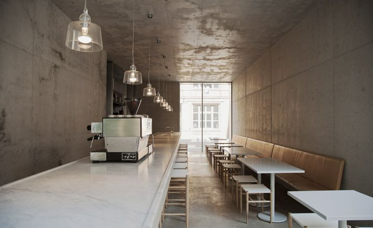 Minimalist in design and name, Kantine has recently opened within a new extension to David Chipperfield's Berlin outpost. The practice's staff canteen, it is also open to the public and spread over two floors. Joachimstrasse 11 10119 Berlin Mitte Germany