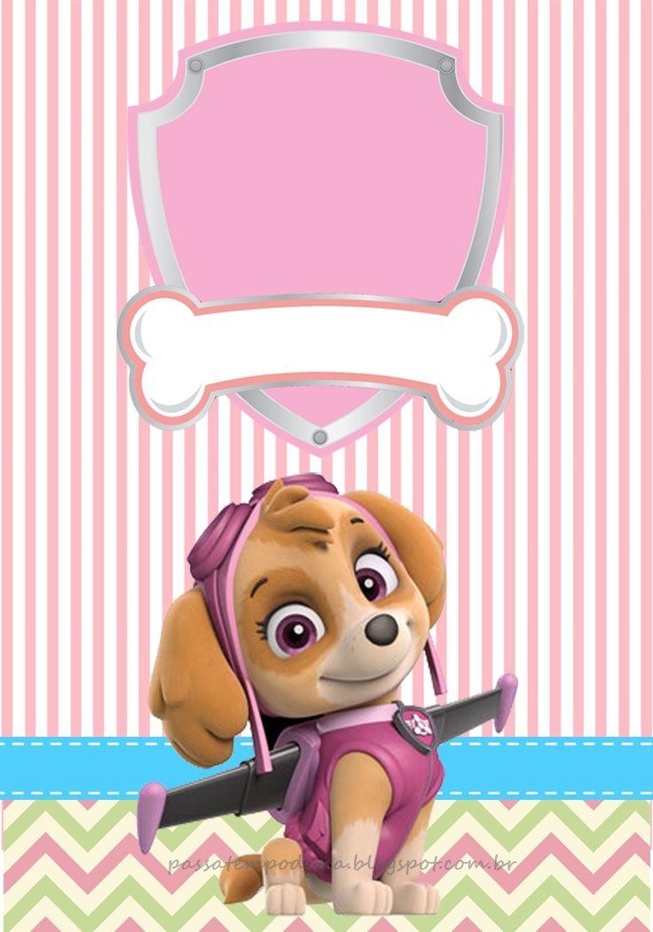 Divertida invitación para fiesta de cumpleaños de la Patrulla Canina. #invitaciones #PatrullaCanina