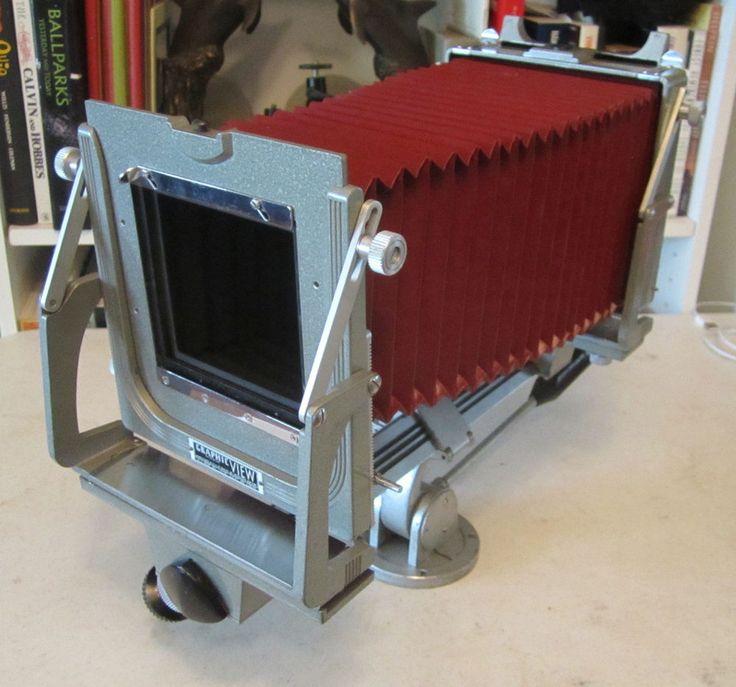 Graflex Graphic View 4x5 Monorail Camera Body w/ Red Bellows, tripod mount #Graflex