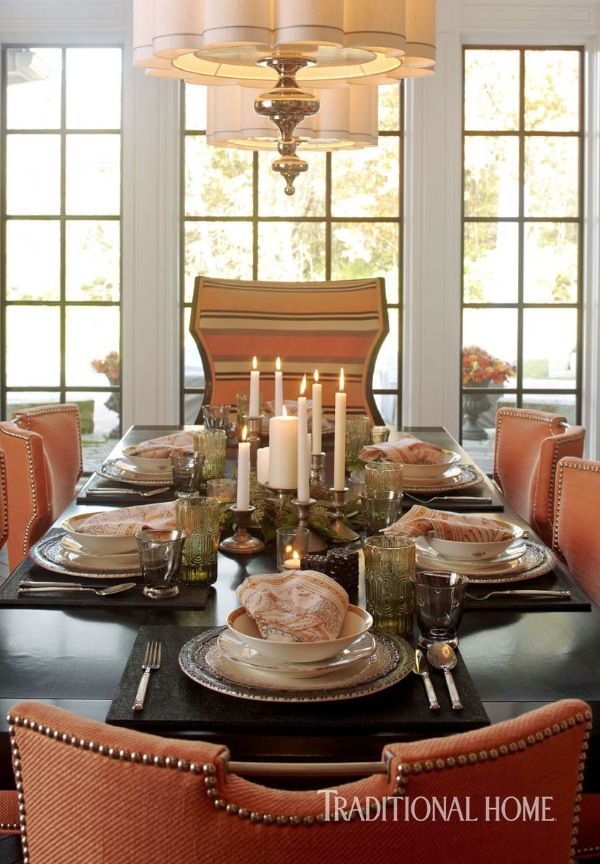 Inspired By The Dining Rooms Palette Of Black Gray And Soft Orange Sturdy