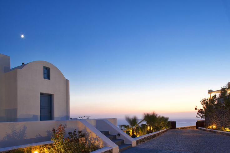 When it get dark at Thermes #luxury #Villas..#Santorini