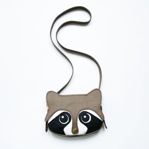 Original handmade Raccoon Leather Bag Raccoon Bag by LaLisette, $99.00