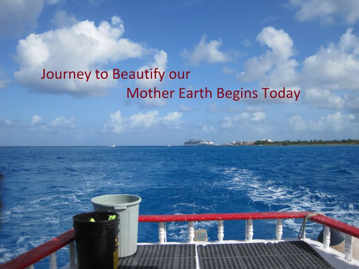 Let's being our cruise to beautify our Mother Earth today.