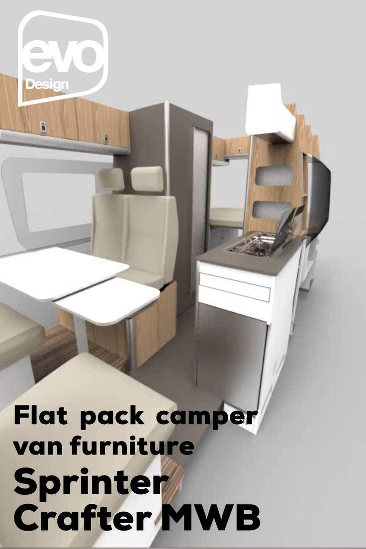 VW Crafter camper van furniture