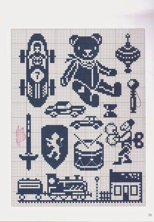 Cross Stitch: brinquedos