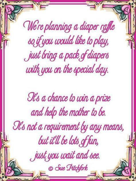 diaper wishing well poem | Poem: diaper raffle baby shower invitation (w/printable)